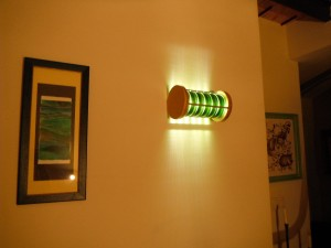 CD Lamp en la pared